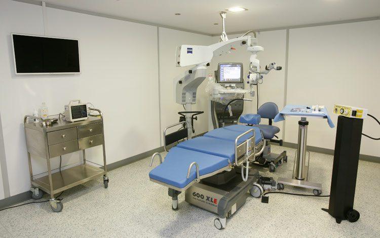 Άποψη χειρουργικής αίθουσας υαλοειδούς - αμφιβληστροειδούς